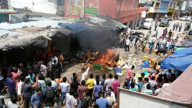 Communal tension gripped Uttarakhand's Satpuli town after a minor boy posted an offensive picture of the Kedarnath shrine on Facebook.(HT Photo)