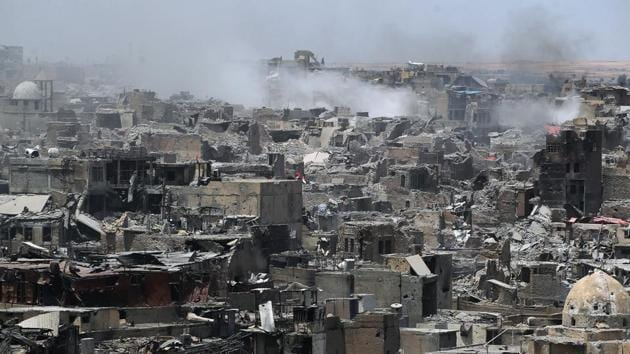 A general view of the destruction in Mosul's Old City on July 9.(AFP Photo)