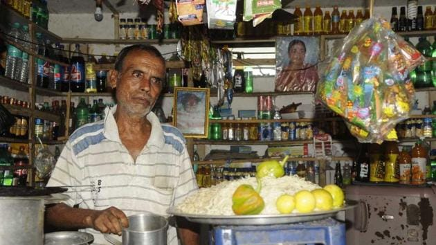 Almost all shops in Basirhat reopened for business on Monday.(Samir Jana)