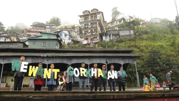The movement for Gorkhaland will be stepped up through a series of agitation programmes, the Gorkhaland Movement Coordination Committee decided on Tuesday.(Samir Jana)