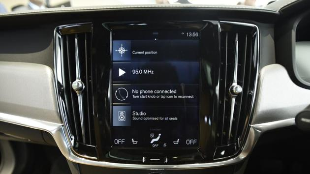 Intuitive touch-enabled infotainment featuring  the 19-speaker Bowers and Wilkins sound system. (Burhaan Kinu/HT PHOTO)