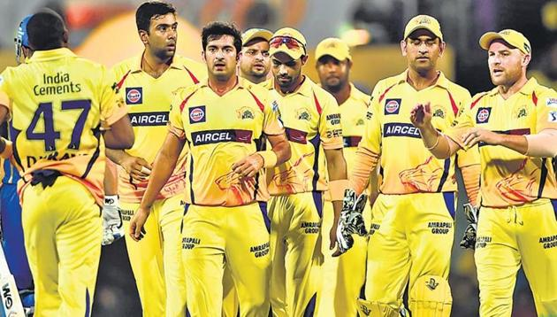 Chennai Super Kings will be back in Indian Premier League from the 2018 season. CSK and Rajasthan Royals were banned for two seasons for match-fixing issues.(HT Photo)