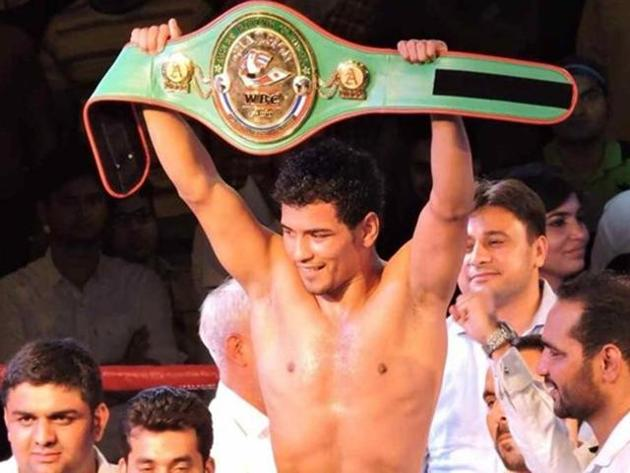 Neeraj Goyat is the WBC Asia Pacific welterweight champion.(PTI)