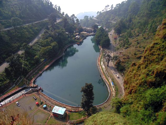 Sadiya Taal (decaying lake in English) in Nainital. Though it was decided to rename the lake as Sarita Taal, it continues to be known by its original name.(Amit Sah /HT Photo)