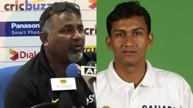 Bharat Arun (L) has returned as the bowling coach, while Sanjay Bangar will be the assistant coach under new India coach Ravi Shastri.(HT Photo)