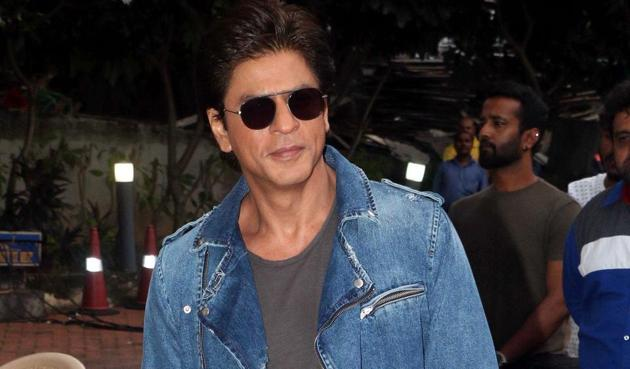 Shah Rukh Khan attends a promotional event for Jab Harry Met Sejal.(AFP)