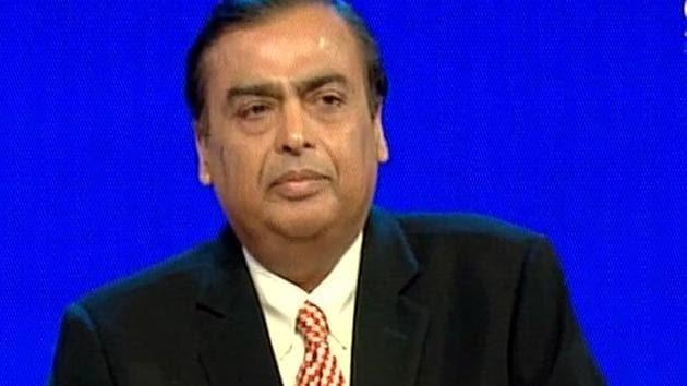 Mukesh Ambani at RIL AGM in Mumbai.(ANI)