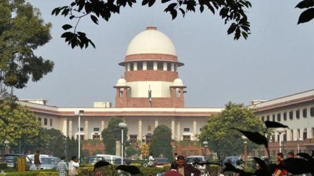 A view of the Supreme Court building is seen in New Delhi.(REUTERS)