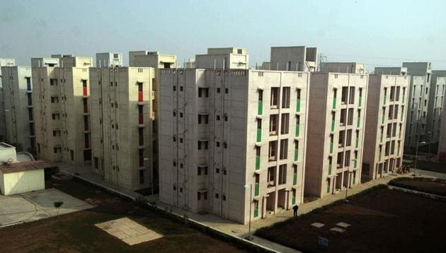 The New sub-cities will be much like DDA's housing project but with added facilities.(S Barmaula/ HT Photo)