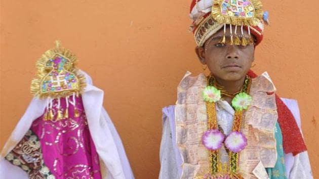 Of every 28 girl child marriages occurring per minute in the world, more than two take place in India, the ActionAid India report released on Friday says.(HT File Photo)