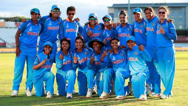 India celebrate after winning their Women's Cricket World Cup semi final against Australia.(Action Images via Reuters)
