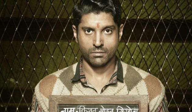 Farhan Akhtar plays an aspiring singer who is stuck in a jail in Lucknow Central.(Twitter)