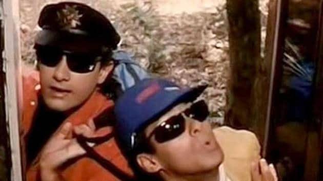 Salman Khan and Aamir Khan played the young leads in Andaz Apna Apna.