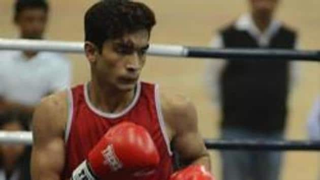 Shiva Thapa has advanced to the semi-finals of a boxing tournament in Czech Republic.(HT Photo)