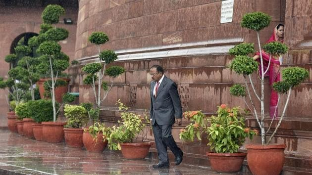 National Security Adviser Ajit Doval is in Beijing to attend a two-day BRICS security summit.(PTI)