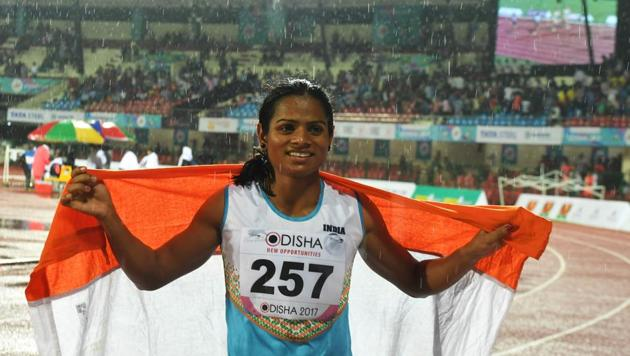India's Dutee Chand is free to compete in International Association of Athletics Federations (IAAF) events.(AFP)