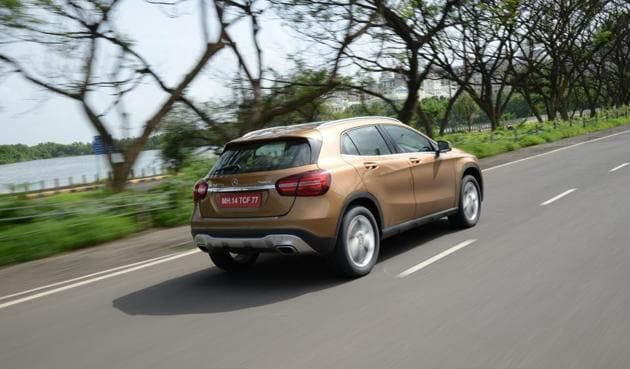 Changes to the GLA are quite subtle, the biggest among them on the outside being the new LED headlamps.