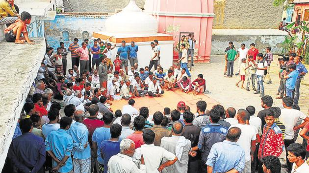 """Vishal's father Sanjay Rana claimed that """"the whole village"""" of Bisada, """"including Muslims, were happy over the bail of my son"""".(Peeyush Khandelwal/HT FILE Photo)"""