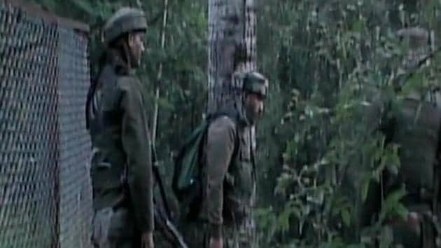 A view of the encounter site in Shopian district in Kashmir.(ANI Photo)