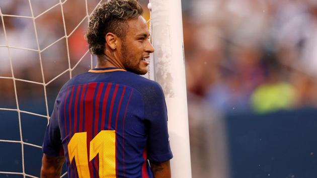 Neymar joined Paris Saint Germain from FC Barcelona for a world record fee.(REUTERS)