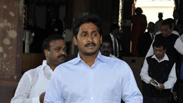 YSR Congress president YS Jaganmohan Reddy made the comments at an election meeting Andhra Pradesh's Kurnool district.(HT File Photo)