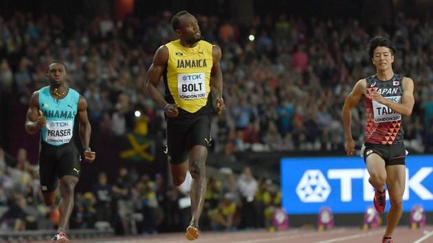Jamaica's Usain Bolt qualified for the men's 100 metres final at the World Athletics Championships being held in London.(AFP)