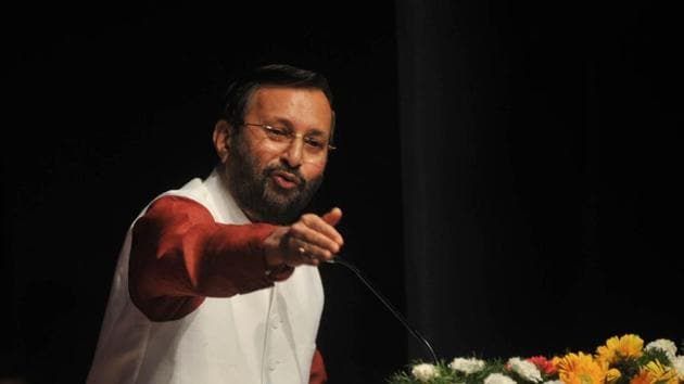 Union HRD Minister Prakash Javadekar on Saturday claimed that India would achieve 100% literacy rate within the next five years.(HT file)
