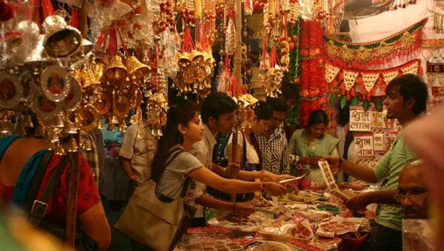 Many shopkeepers do not have any clarity on tax rates, especially for gift hampers containing different items. (HT file photo)
