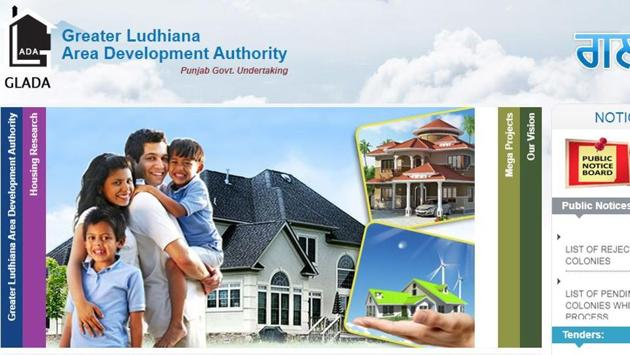 A screenshot of the Greater Ludhiana Area Development Authority website, where the Aadhaar numbers were published. The Aadhaar act makes it illegal for the 12-digit numbers of the biometric details to be published publicly.