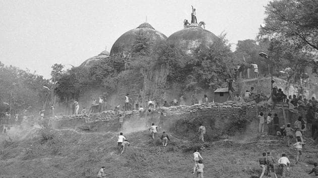 The Babri mosque was demolished in December, 1992.(HT File Photo)