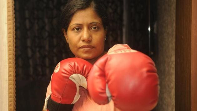 Razia Shabnam, one of the first few women boxing coaches in India, is also the country's first woman to become an international boxing referee and judge, and has travelled abroad to officiate in international boxing tournaments.(Samir Jana/HT Photo)