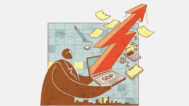 The Economic Survey said that the balance of risk to achieving the 6.75-7.5% growth has shifted to the downside.(HT File)