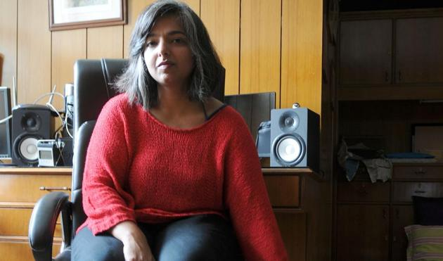 Varnika Kundu at her home in Panchkula. The young DJ says she and her sister grew up in a house filled with music. Her favourite band? Radiohead.(Anil Dayal / HT Photo)