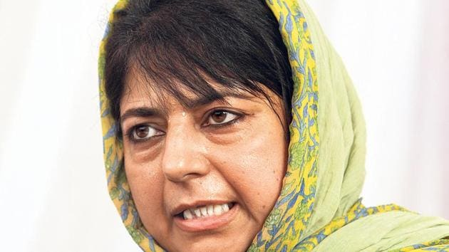 Jammu and Kashmir chief minister Mehbooba Mufti expects the Supreme Court to throw out an appeal to scrap Article 35A of the Indian Constitution.(HT Photo)