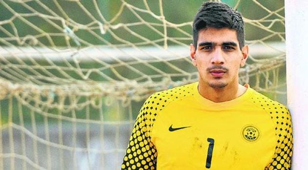 Gurpreet Singh Sandhu played for top flight Norwegian club Stabaek FC for three years and is heading back to India now.(HT Photo)