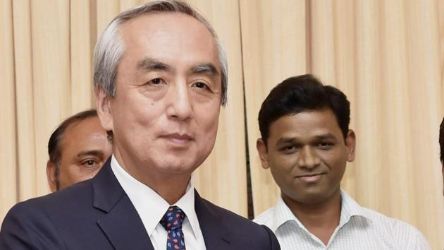 Japanese ambassador to India, Kenji Hiramatsu, at an official meeting in New Delhi.(PTI File Photo)