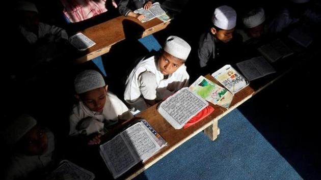 Children study at a madrasa, a religous school for Muslims.(Reuters File Photo)