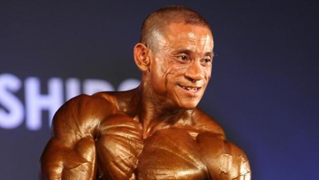 Pradipkumar Singh had won a bronze at the 2012 Mr. World contest in Bangkok.(Photo courtesy: Jayanta Kalita)