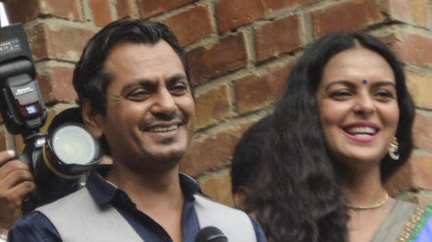 Nawazuddin Siddiqui visited Sharda University in Greater Noida on Friday to promote his upcoming film.