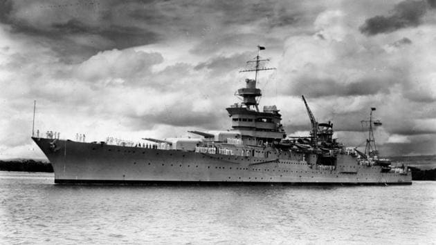 <p>The wreckage of the Second World War cruiser USS Indianapolis has been found 18,000 feet below the surface of the Pacific Ocean, seven decades after it was...