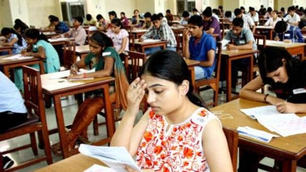 Candidates appear for an entrance exam in Rohtak. (HT File Photo / Representational)