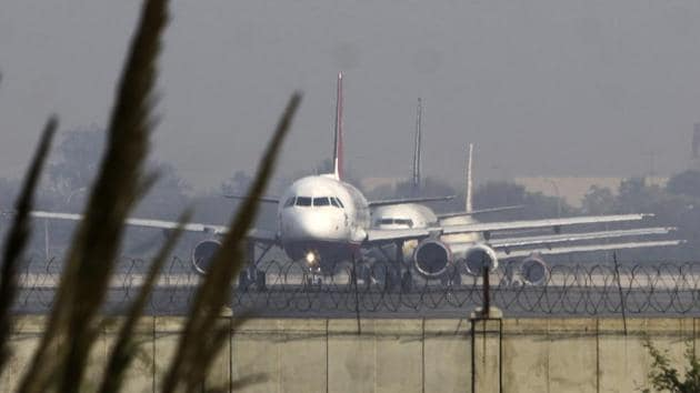 The Delhi airport was shut for 100 minutes on Sunday, however, the mystery of the drone-like object is still unsolved.(HT FILE)
