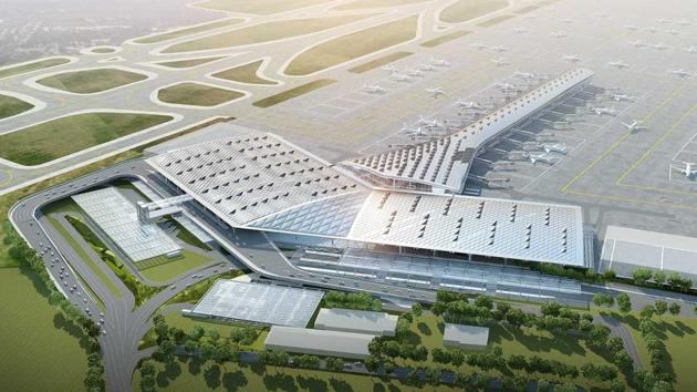 An impression of the refurbished Terminal 1 of Delhi's IGI airport. DIAL on Tuesday announced a three-phase Master Plan 2016 to revamp and expand the airport.(Handout)
