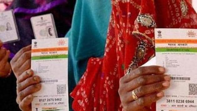 Privacy rights advocates say the government can use the Aadhaar data to re-construct a 360-degree profile of an individual(PTI file photo)
