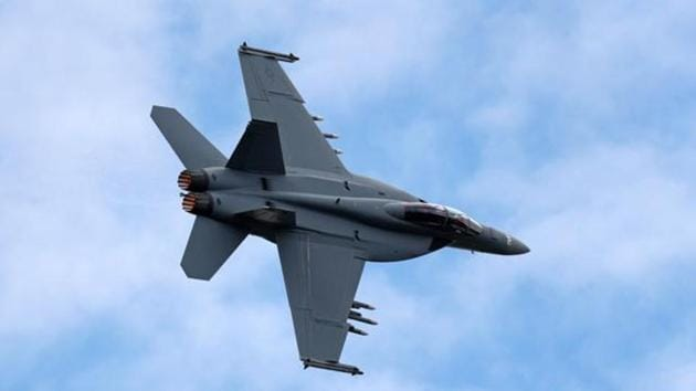 A Boeing F/A-18 Super Hornet, a twin-engine, supersonic, all weather multirole fighter plane.(AFP File Photo)