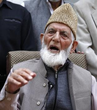Chairman of All Parties Hurriyat Conference (APHC) G Syed Ali Shah Geelani(HT File Photo)
