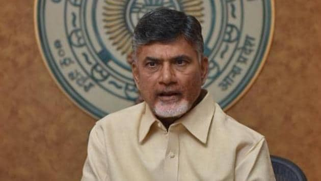 Chief minister Chandrababu Naidu dubbed his party's thumping victory as the voters' rejection of the Opposition's vicious hate-speech politics.(HT Photo)