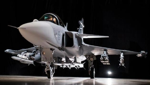 Saab hopes to build its latest Gripen E fighter in India.(Saab photo)