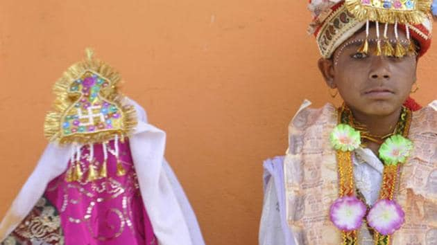 In India, rape and child marriage laws disagree on age of consent.(HT File Photo)