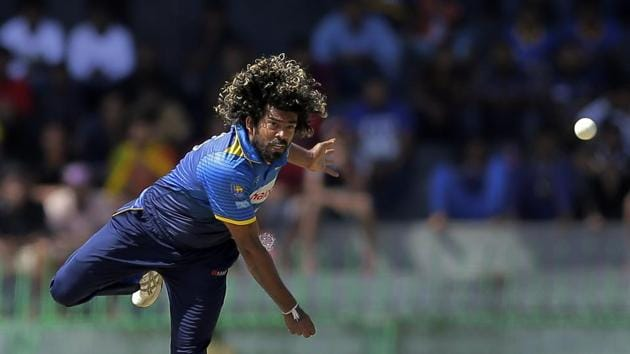 Lasith Malinga got his 300th ODI wicket during the fourth ODI between India and Sri Lanka in Colombo on Thursday.(AP)